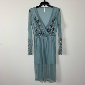 Xhileration see through boho maxi dress